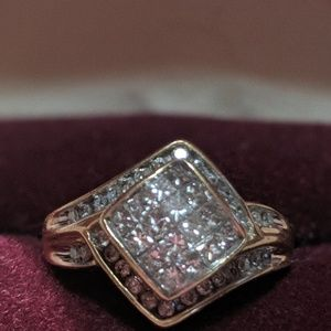 Jewelry Size 9 Zales Diamond Dinner Ring Poshmark